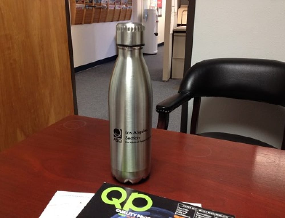 Vacuum Insulated Stainless Steel Bottles with ASQLA Logos Now Available!